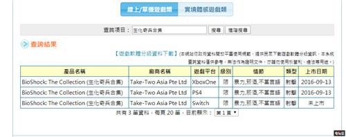 《生化奇兵合集》Switch版现台湾游戏审核网站 任天堂SWITCH 第2张