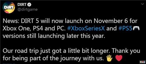 尘埃又吹跑了《尘埃5》本世代版本再次跳票至11月 PC XboxOne PS4 竞速 尘埃5 电玩迷资讯  第3张