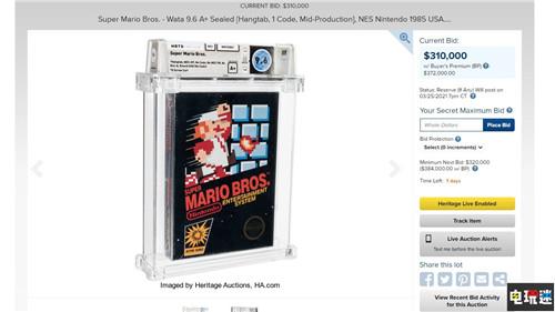 NES《超级马里奥兄弟》卡带31万美元起拍 或将打破收藏纪录